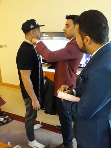 Jay Sean measured for suit
