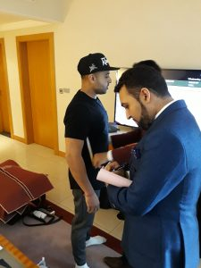 Jay Sean suit fitting